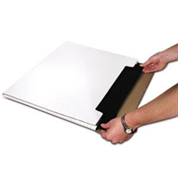 Mailer fold over white